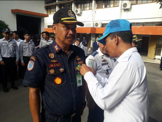 Penyematan PIN TIM Relawan Anti Narkoba P4GN Kepada Dinas Perhubungan Kota Banjarbaru