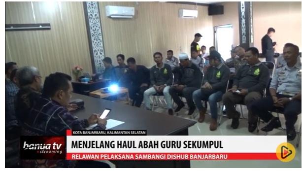 Relawan Haul Sekumpul Sambangi Dishub Banjarbaru